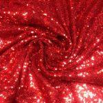 Paliettstoff rød