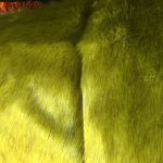 Pels myk og grønngul