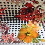 Bomullsjersey med blomster