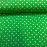 Bomullsjersey med prikker grønn