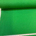 Bomullsjersey med små prikker grønn