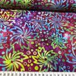 Bomulls batikk rainbow blomst