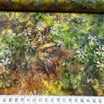 Bomulls batikk grønn hage