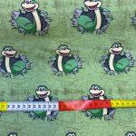French terry grønn frosk