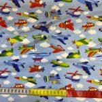 Bomullsjersey med små fly