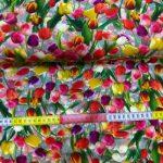 Bomullsjersey med tulipaner