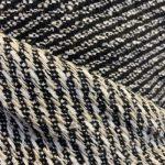 Ull tweed svart striper