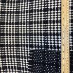 Chanel Stoff Ruter svart og hvit