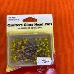 Glasshode knappenåler for quilter