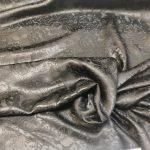 Silke damask/ brokade svart