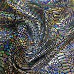 Lycra snakemønster gull 300 g