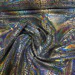 Lycra snakemønster sølv 300g