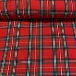 Skotsk ruter rødt