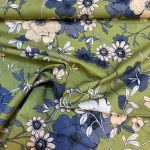 Silkemyk bomull støvrosa og støvgrønn