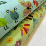 Bomull med veps og sommerfugl 09